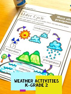 Weather Activities Preschool, Teaching Weather, 2nd Grade Activities, Preschool Science, Seasons Activities, Science Lesson Plans, Science Worksheets, Preschool Themes, Science Classroom