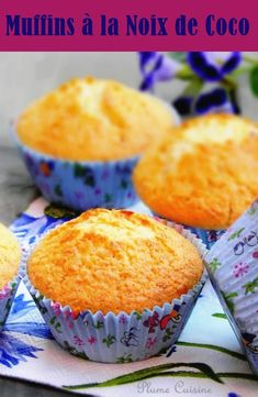 Three distinctive phrases are sufficient to explain these little coconut muffins: mild, fluffy and attractive! So lengthy dwell the coconut muffins! Breakfast Pastries, Breakfast Muffins, Coconut Muffins, Tasty, Yummy Food, Pastry Cake, Muffin Recipes, Quick Easy Meals, Biscuits