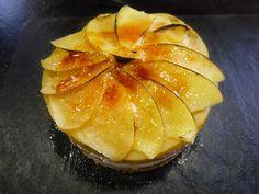 Cocinando con Lola García: Milhojas de manzana con foie y queso de cabra