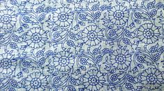 Pure cotton blue paisley and floral block print jaipur India