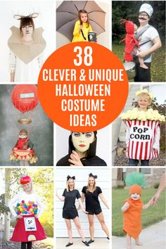 Looking for a clever and unique Halloween costume? Check out our colelction of 38 Halloween costumes that are fun, clever, and unique! #halloween #halloweencostumes