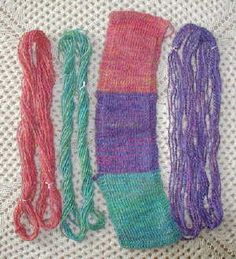 samples showing balanced and unbalanced yarns used in knitting