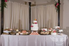 Gorgeous cake and dessert table for wedding reception.   Photographer: www.lightlyphoto.com  Venue: The Orchard Event Venue www.theorchardtx.com. Hidden in a quiet corner of the Fort Worth metroplex is The Orchard, a new, state of the art venue that will serve as the perfect backdrop for all of life's special occasions. Outdoor Wedding Venue   Fort Worth Wedding Venue   Rustic Wedding Venue   Country Wedding Venue   Elegant Wedding Venue