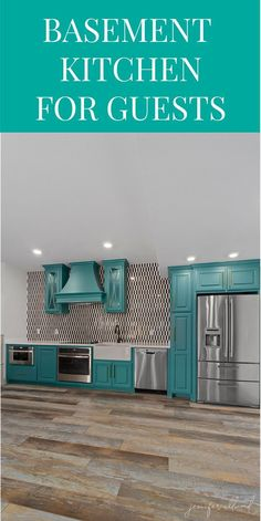 Basement Kitchen Ideas: A Light and Bright Update! - Jennifer Allwood Home One Wall Kitchen, Basement Kitchen, Basement Flooring, Basement Remodeling, Basement Ideas, Mini Kitchen, Small House Decorating, Decorating Tips, Home Design