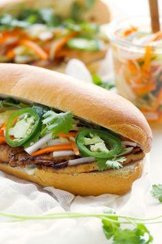 Vietnamese Chicken Sandwich (Banh Mi) - Learn how to make restaurant style BANH MI sandwiches at home! #banhmi #vietnamesesandwich #banhmisandwiches | Littlespicejar.com