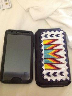 Native beaded cell phone case