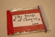 Cute- Book of shapes with ziploc bags to hold the shapes that match the pages
