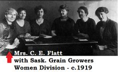 My Great Grandmother was the President of the Women's Section of the Saskatchewan Grain Growers in 1919.  Not sure when this was taken...