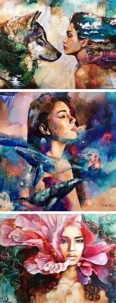 Dreamy paintings by Dimitra Milan // art // modern painting // young artist // nature-inspired art // animal art