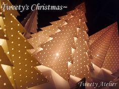 Origami di Natale puntelli-carta piegata albero -: Naver blog