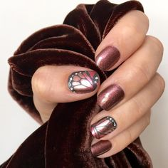 Jamberry - Sparkling Marsala and Butterfly Bliss - I love this combo