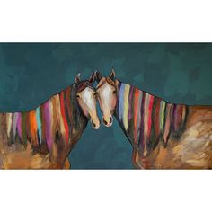 """GreenBox Art """"Manes of Color"""" by Eli Halpin Painting Print on Wrapped Canvas"""