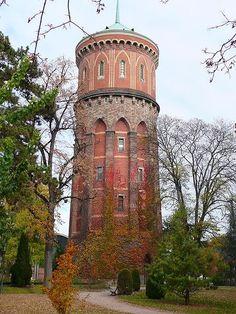 Water tower at Colmar, Alsace, du Haut-Rhin, France - photo by Russ Bowling, via Les Belles Images