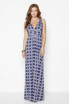 I have a hard time with maxi dresses because of my height, but I like the cut and the pattern
