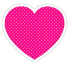 Simple hot pink and white polka dotted heart shape. Girly design. Many of the products have a black background. • Also buy this artwork on stickers, apparel, phone cases, and more.