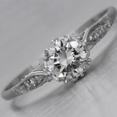 Antique Engagement Ring - Check out navarragardens.com for info on a beautiful Oregon wedding destination!
