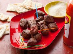 Chislic (South Dakota Cubed Meat) : Recipes : Cooking Channel Recipe | Cooking Channel