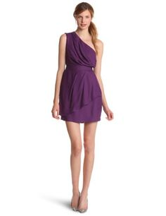 BCBGeneration Women's One Shoulder Dress, Dark Violet, 12 « Fashion! @ Sag0.com
