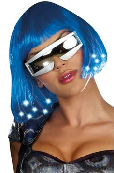 light up blue costume wig halloween costumes wigs raves edc