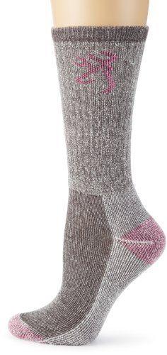 Browning Hosiery Women's Ladies Angora Boot Sock, 2 Pair Pack (Grey/Pink, Medium) Browning. $22.99