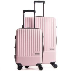 CALPAK LUGGAGE Davis Spinner Luggage Set ON SALE [affiliate] // pink luggage, millenial pink luggage affordable, vacation must haves, carry on spinner luggage Calpak Luggage, Pink Luggage, Cute Luggage, Best Carry On Luggage, Hardside Spinner Luggage, Girls Luggage, Luggage Packing, Luggage Cover, Superstay Maybelline