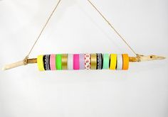 A fun (and cheap) way to store washi tape - make it with a driftwood branch!