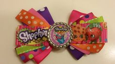 Shopkins Hair Bow bow 2 by HandGCrafts on Etsy