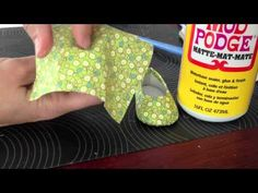 How To Make No Sew Custom Doll Shoes using plain flats and Mod Podge - video by Cinnamon of Liberty Jane Clothing
