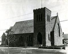 St. Luke's Anglican Church on the corner of Gaetz Avenue and 54 Street, 1912.