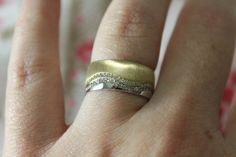 #14K Real Solid #Gold #Engagement #Ring #Vintage only in by CrocusInSun