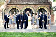 Bridal party at Meadow Brook Hall