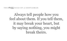 the #155 rule of a gentleman
