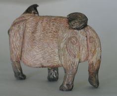 Fine Art Miniatures by Natasha, featuring shadow boxes, miniature paintings, painted sculptures, and dollhouse scale decorated period furniture. Sculptures, Lion Sculpture, Rear View, Pugs, Sculpting, Dog Cat, Kittens, Miniatures, Fine Art