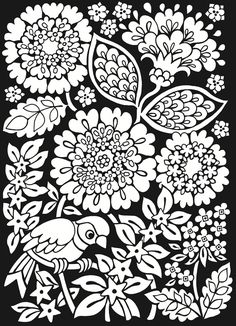 Dover Sample from From: Floral Fantasies Stained Glass Coloring Book It would also make a good transfer.