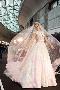 Pinning this for my daughter. Designer Elie Saab. Photographer and model unknown.
