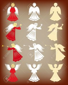 Christmas Decoration Angels Vector Illustration Royalty Free Cliparts, Vectors, And Stock Illustration. Pic 16579107.