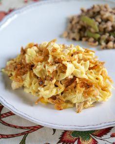 French Onion Chicken Noodle Casserole | Plain Chicken