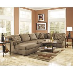 Signature Design by Ashley Lanesville Sectional & Reviews | Wayfair