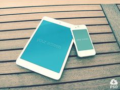 iPhone iPad photorealistic mockups http://dlpsd.com/iphone-ipad-photorealistic-mockups/