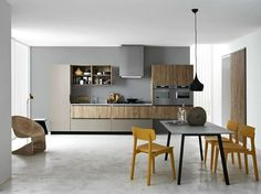 Linear melamine-faced chipboard fitted kitchen ARIEL 05 by Cesar Arredamenti   design Gian Vittorio Plazzogna