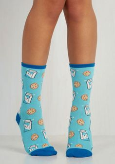 Darling Snack Time and Again Socks by ModCloth