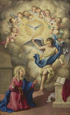 Blessed Mother Mary, Blessed Virgin Mary, Religious Images, Religious Art, Miséricorde Divine, Jesus E Maria, Archangel Gabriel, Sainte Marie, Jesus Art