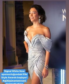 Elle Style Awards, White Now, Strapless Dress Formal, Formal Dresses, Asymmetrical Tops, Pretty Girls, Shoulder Dress, Actresses, Inspiration
