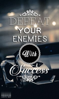 Defeat your enemies with Success. Tap to check out more Quotes wallpapers. Typography quotes 480 X 800 HD Wallpapers. Motivational and inspirational quotes about life, confidence and success. - @mobile9