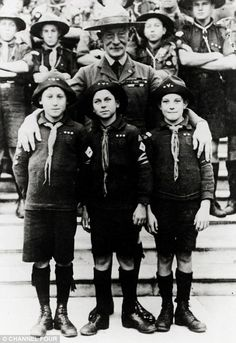 Scout leader: Lord Robert Baden-Powell with some early recruits