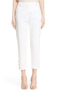 Max Mara 'Messina' Stretch Cotton Ankle Pants $314.98  #ShopSale #relevant #DesigerClothing