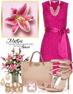 """""""Mother's Day Lunch"""" by anna-campos ❤ liked on Polyvore"""