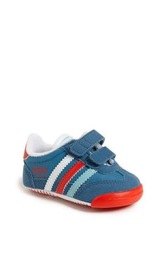 adidas 'Dragon' Crib Shoe (Baby).  70's style shoes for my baby boy.  Baby boy shoes are so cute!