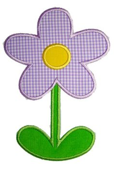 Flower with Stem   Applique Momma