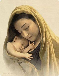Moeder Maria met kindje Jezus